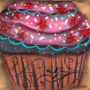 Cupcake Paintings - Yummy 7 by  Abril Andrade Griffith