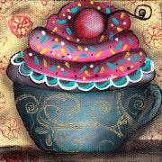 Cupcake Paintings - Yummy 9 by  Abril Andrade Griffith
