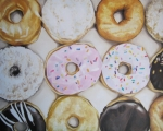 Donut Framed Prints - Yummy Donuts Framed Print by Jindra Noewi
