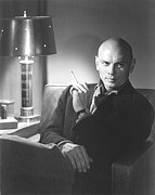 Smoking Book Framed Prints - Yuo Brynner, 1957 Framed Print by Everett