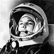 Firsts Photo Posters - Yuri Gagarin 1934-1968., Russian Poster by Everett