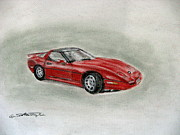 Chevy Pastels - Yw8440 by Annette Battaglia