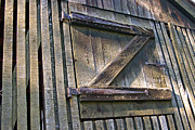 Barn Door Framed Prints - Z Framed Print by David Rucker