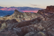 Death Valley Photos - Zabriskie Point at Dawn by Gary Zuercher