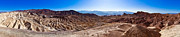 Southwest Landscape Metal Prints - Zabriskie Point Panorama Metal Print by Niels Nielsen