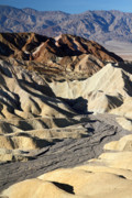 Harsh Prints - Zabriskie point scenery Print by Pierre Leclerc