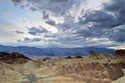 Death Valley National Park Posters - Zabriskie point twilight Death Valley Poster by Pierre Leclerc