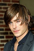 2000s Hairstyles Framed Prints - Zac Efron At Talk Show Appearance Framed Print by Everett