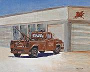 Route 66 Paintings - Zaitz Texas by Steve Beaumont
