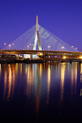 Charles River Art - Zakim at Twilight II by Rick Berk