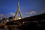 Zakim Bridge And Boston Garden At Sunset Print by Rick Berk