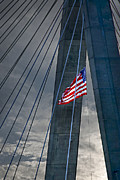 Patriot Photo Prints - Zakim bridge Boston Print by Elena Elisseeva