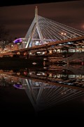 Boston Garden Prints - Zakim Bridge Print by Frank Garciarubio