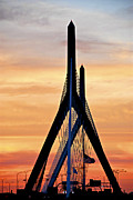 Boston Photos - Zakim bridge in Boston by Elena Elisseeva