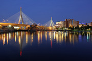 Boston Photos Posters - Zakim Bridge in Boston Poster by Juergen Roth