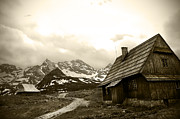 Wooden House Framed Prints - Zakopane Mountains 01 Framed Print by Kamil Swiatek