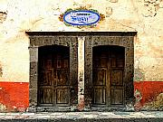 San Miguel De Allende Framed Prints - Zapateria Susy Framed Print by Olden Mexico