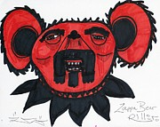 Street Drawings - Zappa Bear by Robert Wolverton Jr