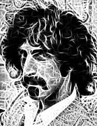 Rock And Roll Digital Art Originals - Zappa by Paul Van Scott