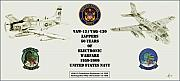 Naval Aviation Posters - ZAPPERS 50 Years Then and Now Poster by Nicholas Linehan