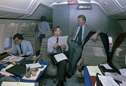 Air Force One Framed Prints - Zbigniew Brzezinski And Jimmy Carter Framed Print by Everett