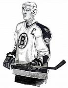 Hockey Drawings Framed Prints - Zdeno Chara Framed Print by Dave Olsen