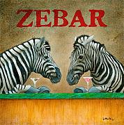 Humorous Framed Prints - Zebar... Framed Print by Will Bullas