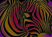Greetingcard Prints - Zebra Abstract Print by Dania Reichmuth