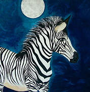 Teresa Grace Mock - ZebRa and MooN on BLue...