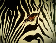 Zebra Paintings - Zebra by Anne Back