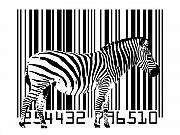 White Digital Art Posters - Zebra Barcode Poster by Michael Tompsett