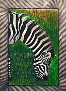 Seneferu Mixed Media Posters - Zebra Poster by Malik Seneferu