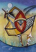 Surrealisme Framed Prints - Zebra Shield Framed Print by Sally Appleby