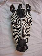 Hand Reliefs - Zebra -SOLD by Lisa Ruggiero