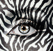 Eye Shadow Framed Prints - Zebra  Framed Print by Yosi Cupano