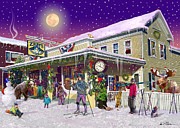 Snowshoes Posters - Zebs General Store in North Conway New Hampshire Poster by Nancy Griswold