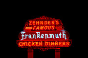 Evening Scenes Photos - Zehnders Neon Sign by LeeAnn McLaneGoetz McLaneGoetzStudioLLCcom