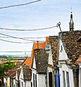 Steeple Framed Prints - Zemun rooftops in Belgrade Framed Print by Elena Elisseeva
