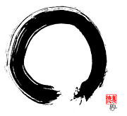 Zen Painting Posters - Zen Circle Five Poster by Peter Cutler