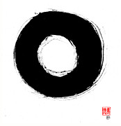 Zen Buddhism Framed Prints - Zen Circle Seven Framed Print by Peter Cutler