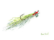 Flyfishing Painting Prints - Zen Clouser Print by Sean Seal