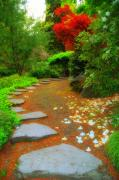 Stepping Stones Posters - Zen Garden Poster by Lee Amerson