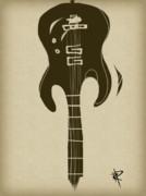 Zen Guitar Print by Russell Pierce