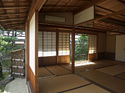 Prayer Warrior Prints - Zen Meditation Room Open To Garden - Kyoto Japan Print by Daniel Hagerman