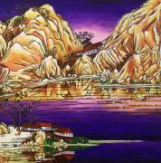 Buddhist Paintings - Zen Monastery by Rivkah Singh