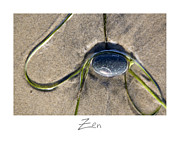 Beach Art Posters - Zen Poster by Peter Tellone