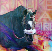 Award Posters - Zenyatta - Run Like A Girl Poster by Leisa Temple