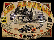 London England  Digital Art Metal Prints - Zeppelin Express work B Metal Print by David Lee Thompson