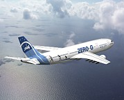 Aviation Artwork Metal Prints - Zero-g Airbus Aircraft, Artwork Metal Print by David Ducros
