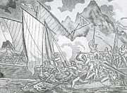 Zheng Yis Pirates Capture John Turner Print by Photo Researchers